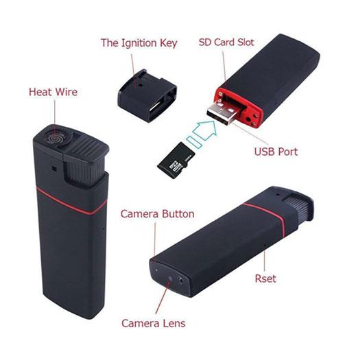 camera giấu kín bằng hộp quẹt