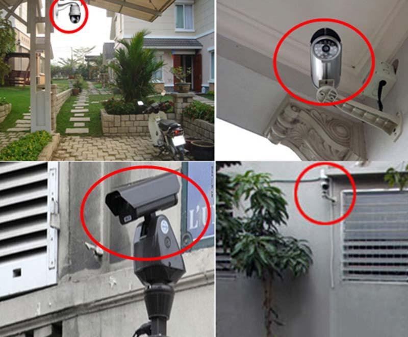 vị trí gắn camera chống trộm